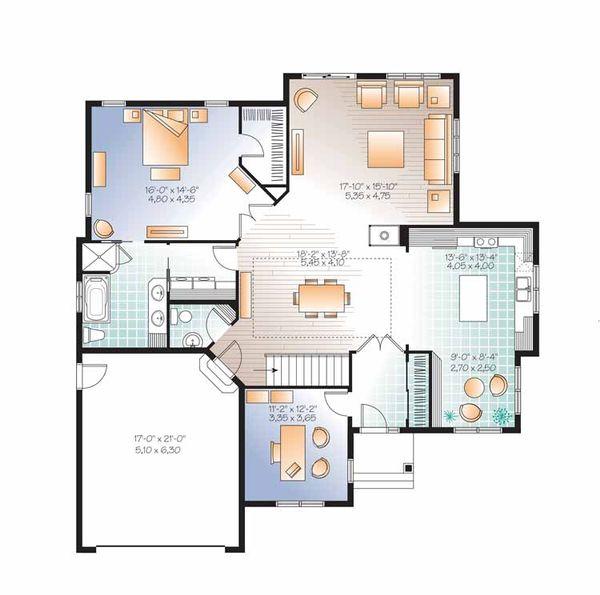 House Plan Design - Country Floor Plan - Main Floor Plan #23-2527