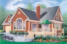 Home Plan - European Exterior - Front Elevation Plan #23-2027