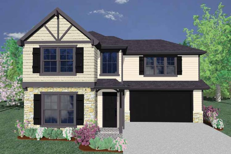 Country Exterior - Front Elevation Plan #509-321