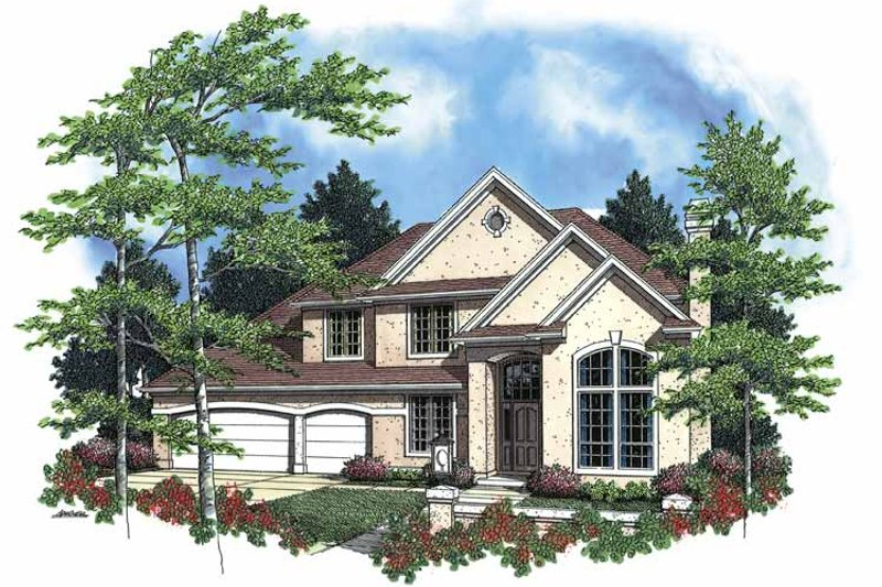 Traditional Exterior - Front Elevation Plan #48-780