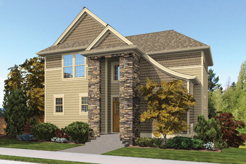 House Plan Design - Traditional Exterior - Front Elevation Plan #48-910