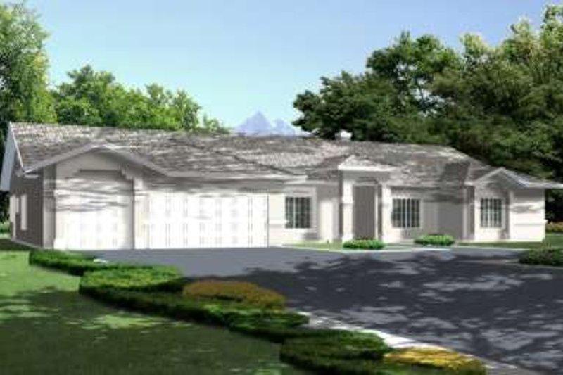 Adobe / Southwestern Style House Plan - 4 Beds 2 Baths 2762 Sq/Ft Plan #1-663