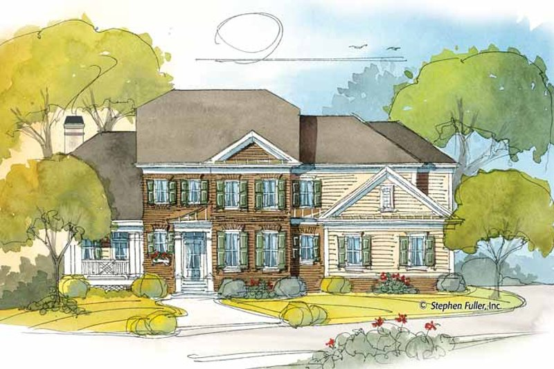 Colonial Exterior - Front Elevation Plan #429-394