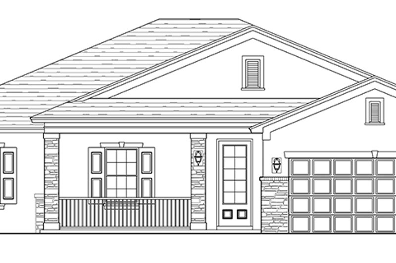 Traditional Exterior - Front Elevation Plan #1058-118 - Houseplans.com