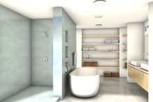 Modern Interior - Master Bathroom Plan #497-17