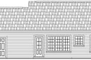Traditional Style House Plan - 2 Beds 2 Baths 1002 Sq/Ft Plan #21-166 Exterior - Rear Elevation