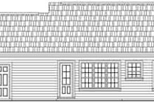 House Design - Traditional Exterior - Rear Elevation Plan #21-166
