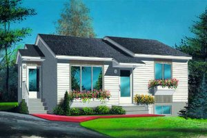 Traditional Exterior - Front Elevation Plan #25-196