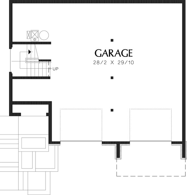 Lower Level Floor plan  - 2000 square foot Craftsman home