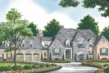 House Plan Design - Country Exterior - Front Elevation Plan #453-466