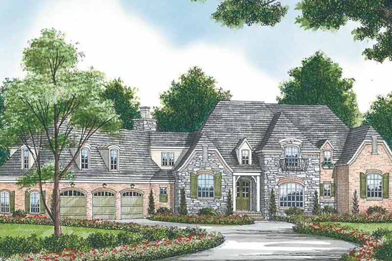 Dream House Plan - Country Exterior - Front Elevation Plan #453-466