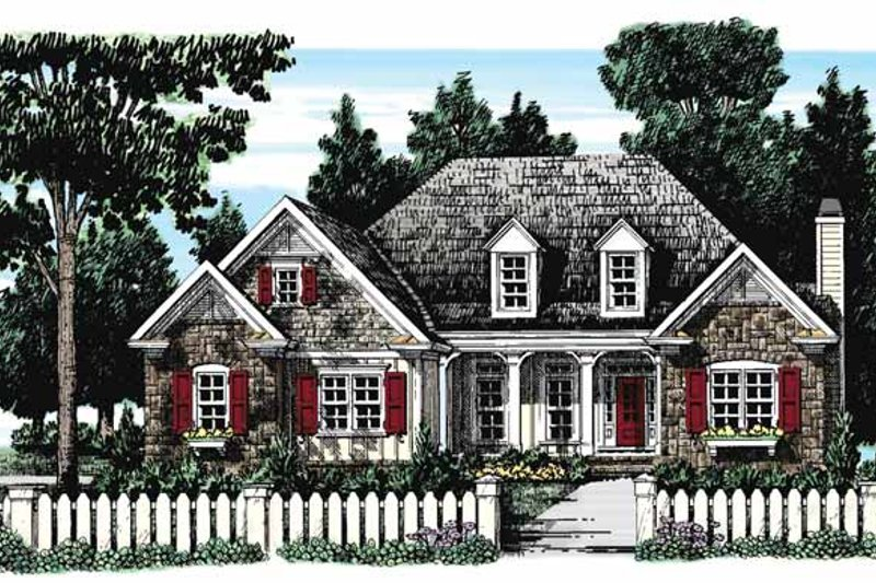 European Exterior - Front Elevation Plan #927-273