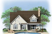 Architectural House Design - Traditional Exterior - Rear Elevation Plan #929-771