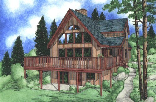 Modern Style House Plan - 3 Beds 2.5 Baths 1426 Sq/Ft Plan #126-103 Exterior - Front Elevation