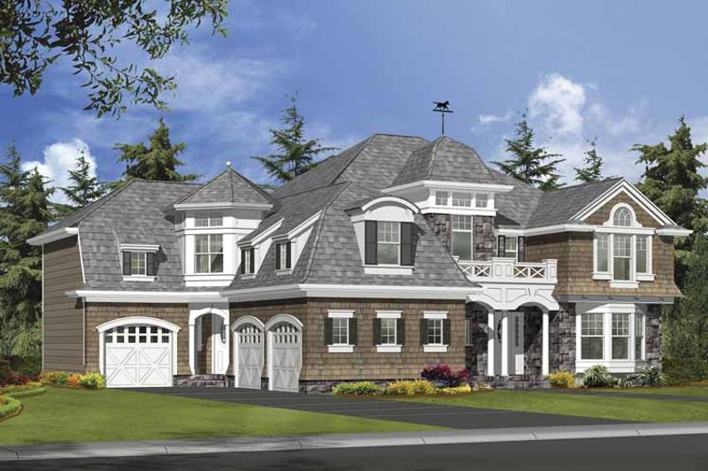 Craftsman Exterior - Front Elevation Plan #132-506
