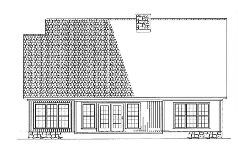Traditional Exterior - Rear Elevation Plan #17-2779 - Houseplans.com
