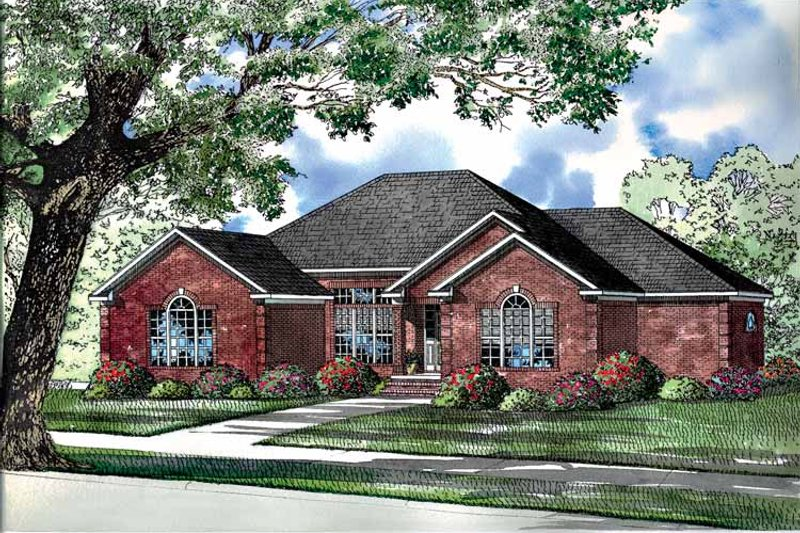 Ranch Exterior - Front Elevation Plan #17-2966