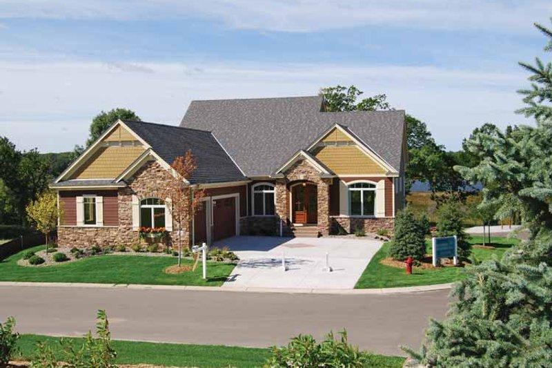 Home Plan - European Exterior - Front Elevation Plan #320-1003