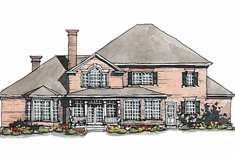 Classical Exterior - Rear Elevation Plan #429-189 - Houseplans.com