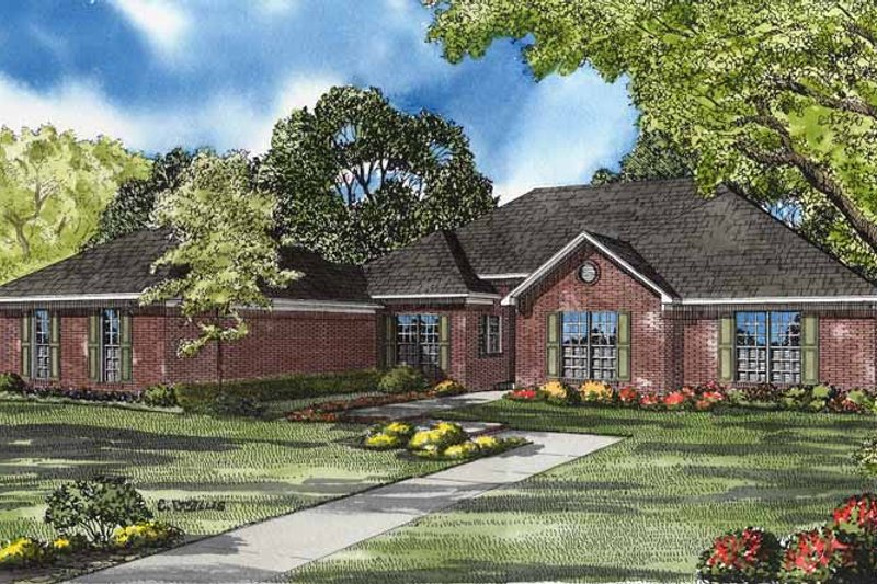 Ranch Exterior - Front Elevation Plan #17-3152