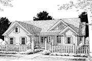Traditional Style House Plan - 4 Beds 2 Baths 1844 Sq/Ft Plan #20-375 Exterior - Front Elevation