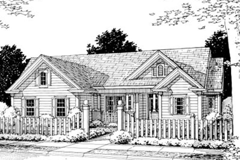 Traditional Exterior - Front Elevation Plan #20-375 - Houseplans.com