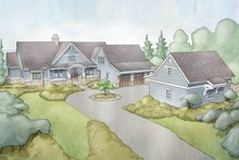 Architectural House Design - Ranch Exterior - Front Elevation Plan #928-293