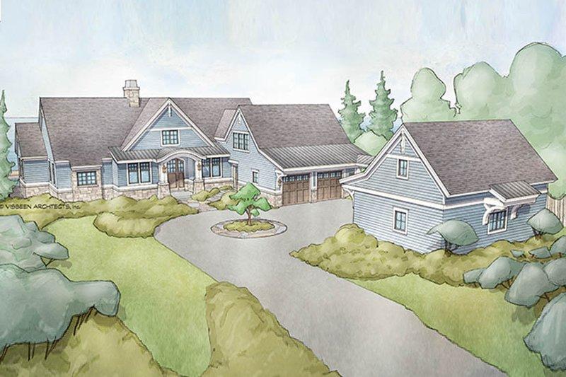 Ranch Exterior - Front Elevation Plan #928-293 - Houseplans.com