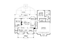 Farmhouse Floor Plan - Main Floor Plan Plan #929-1055