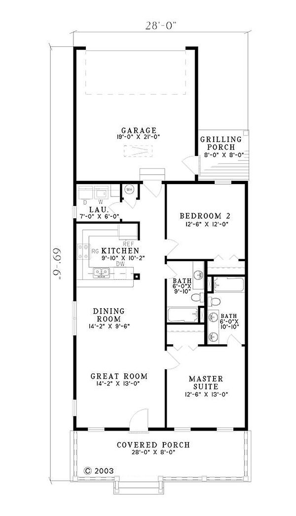 Southern Floor Plan - Main Floor Plan Plan #17-554