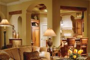 Mediterranean Style House Plan - 4 Beds 4.5 Baths 5109 Sq/Ft Plan #930-98 Interior - Family Room