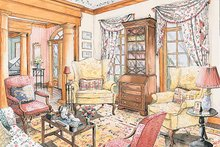 Classical Interior - Family Room Plan #429-181