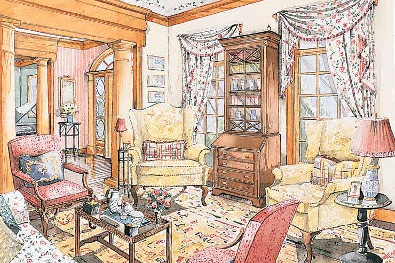 Classical Interior - Family Room Plan #429-181 - Houseplans.com