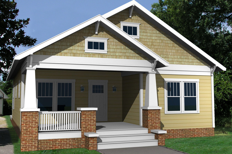Craftsman Exterior - Front Elevation Plan #461-20