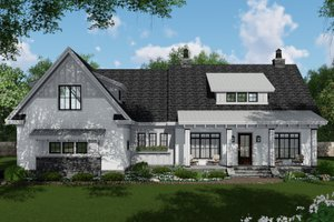 Dream House Plan - Farmhouse Exterior - Front Elevation Plan #51-1144