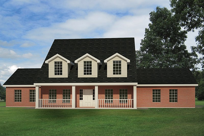 Colonial Exterior - Front Elevation Plan #1061-2
