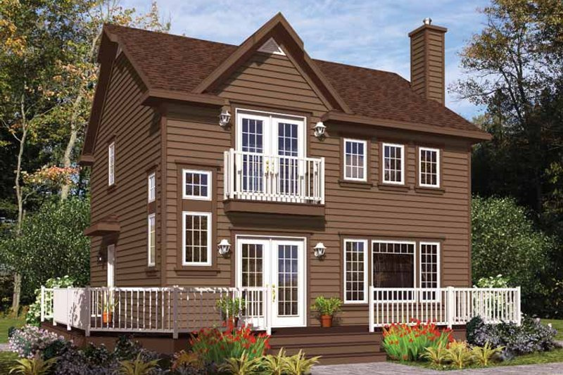 House Plan Design - European Exterior - Front Elevation Plan #23-2493