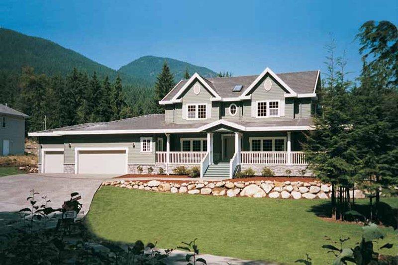 House Blueprint - Victorian Exterior - Front Elevation Plan #47-945