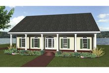 Country Exterior - Front Elevation Plan #44-209