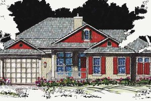 Country Exterior - Front Elevation Plan #1007-20