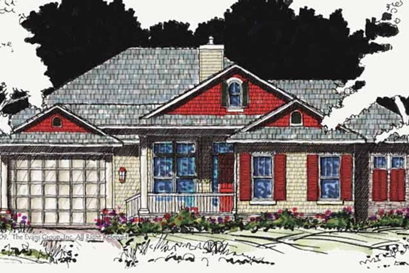 Country Exterior - Front Elevation Plan #1007-20 - Houseplans.com