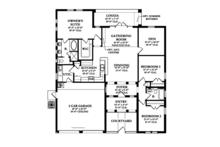 Mediterranean Floor Plan - Main Floor Plan Plan #1058-3