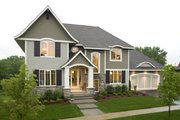 Traditional Style House Plan - 4 Beds 4.5 Baths 3797 Sq/Ft Plan #56-605 Exterior - Other Elevation