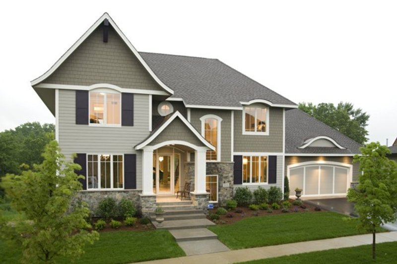 Traditional Exterior - Other Elevation Plan #56-605 - Houseplans.com