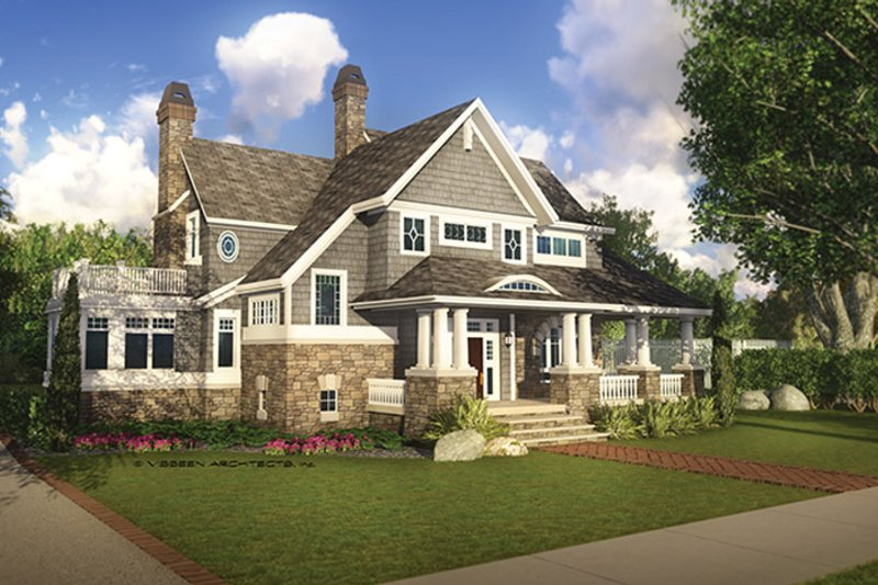 Craftsman style house plan 4 beds 3 5 baths 4038 sq ft for Shingle house plans