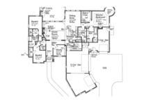 European Floor Plan - Main Floor Plan Plan #310-1264