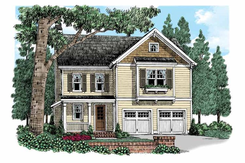 Traditional Exterior - Front Elevation Plan #927-523 - Houseplans.com