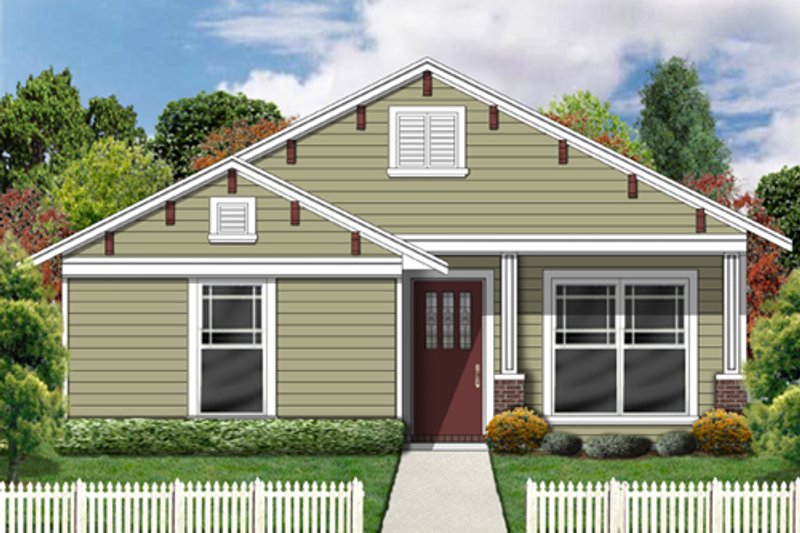 Craftsman Exterior - Front Elevation Plan #84-492