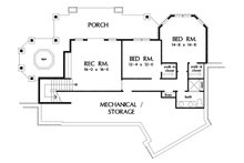 Craftsman Floor Plan - Lower Floor Plan Plan #929-1103