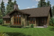 Craftsman Style House Plan - 3 Beds 2 Baths 1641 Sq/Ft Plan #48-560 Exterior - Rear Elevation